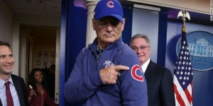Bill Murray habló sobre los Chicago Cubs en la Casa Blanca